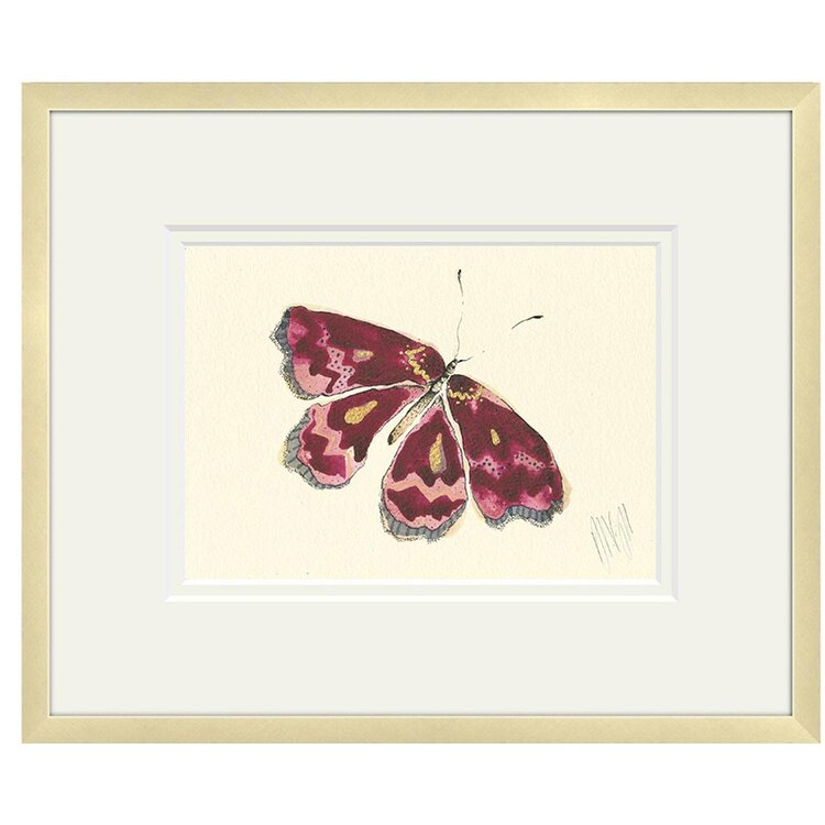 Anna Wright Print - Dark Pink Butterfly