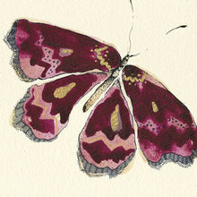 Load image into Gallery viewer, Anna Wright Print - Dark Pink Butterfly