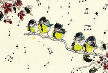Load image into Gallery viewer, Anna Wright Print - The Singing Tits