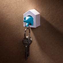 Load image into Gallery viewer, Elephant Key Ring & Whistle with Holder