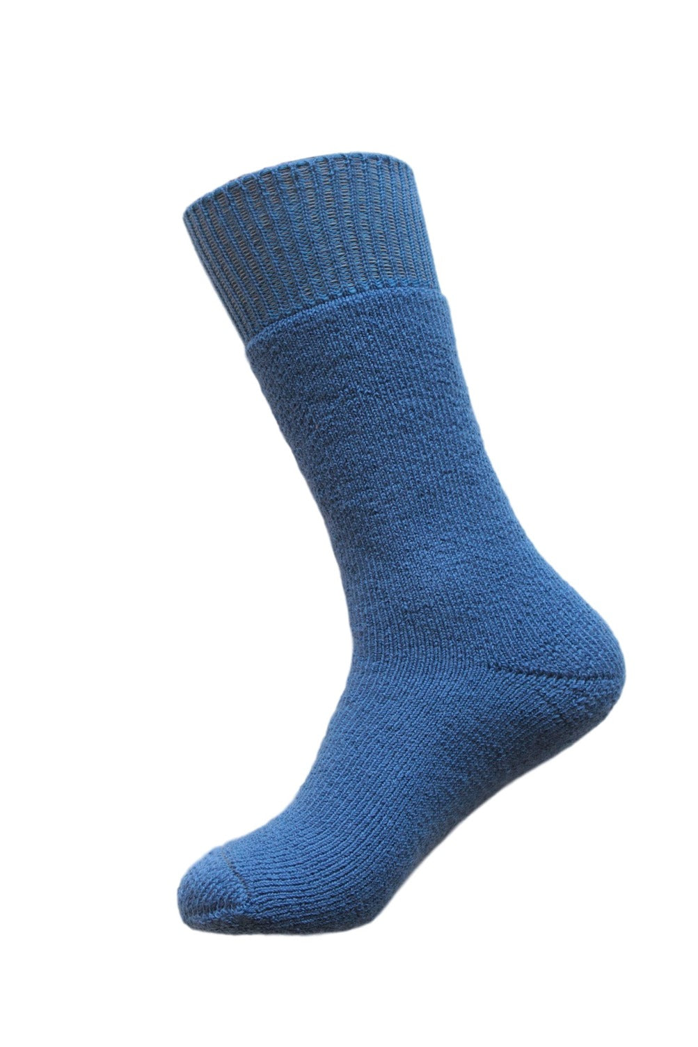Australian Wool, Australian Made Thick Wool Socks - Mid Blue