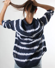 Load image into Gallery viewer, HUT Oversized Linen Shirt - Tie Dye Navy