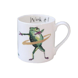 Anna Wright Fine Bone China Mug - Work It