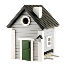 Load image into Gallery viewer, Birdhouse/Feeder - Grey Cottage
