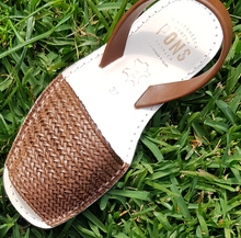 Load image into Gallery viewer, Menorca Sandals - Braided Tan PONS