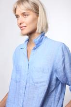 Load image into Gallery viewer, HUT Oversized Linen Shirt - Blue Chambray