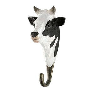 Hard Carved Wall Hook - Cow