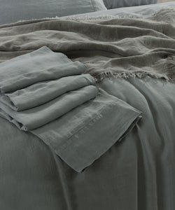 Pure French Linen Sheet Set - Duck Egg