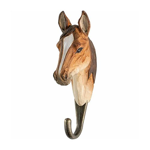Hand Carved Wall Hook - Horse