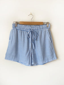 HUT Linen Shorts - Blue/White Stripe