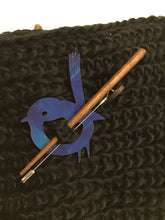 Load image into Gallery viewer, Scarf Pin - Blue Wren