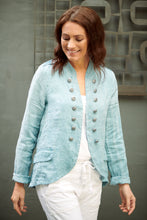 Load image into Gallery viewer, Linen Soldier Jacket - Blue