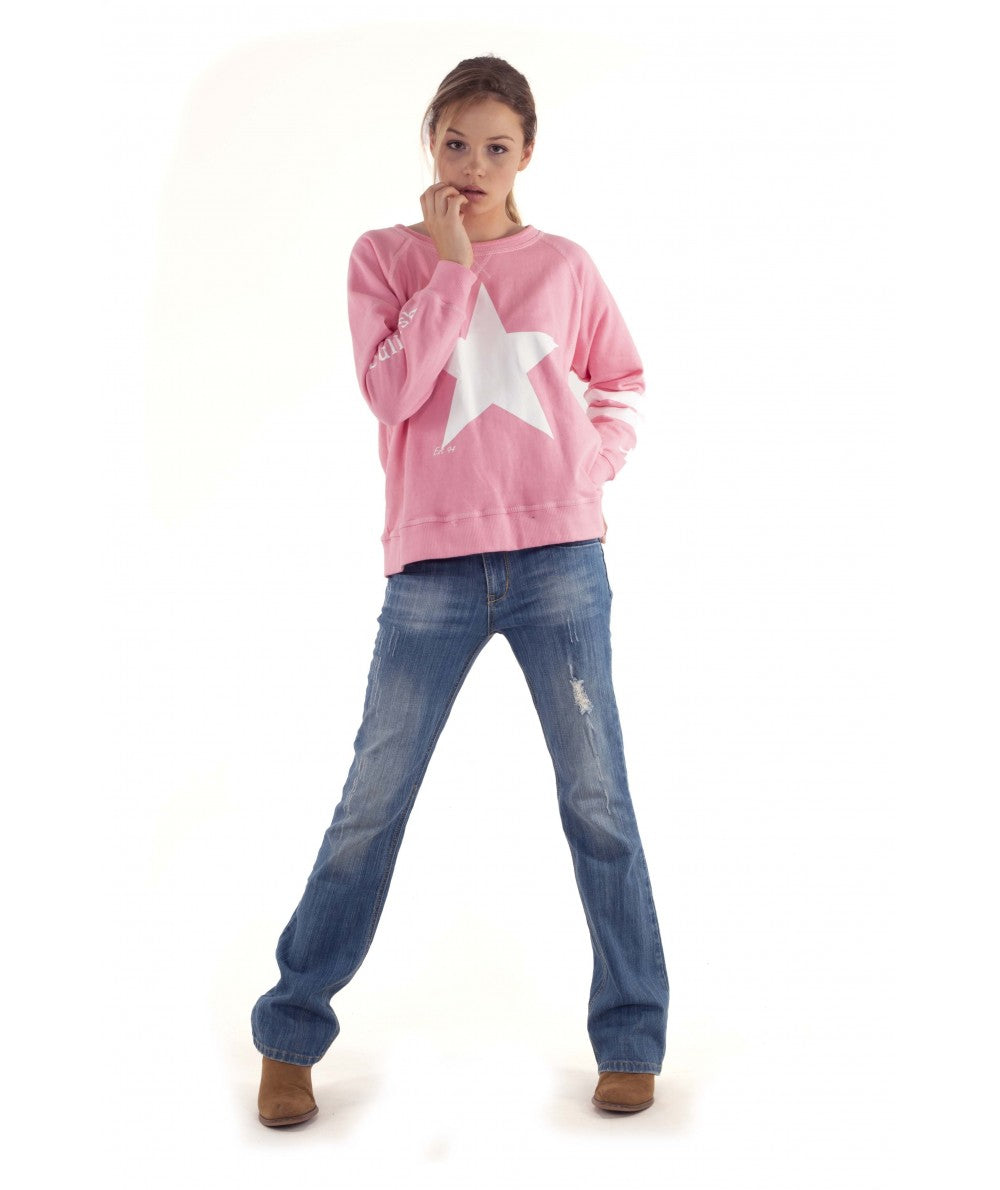 Bullrush Star Sweat - Pink