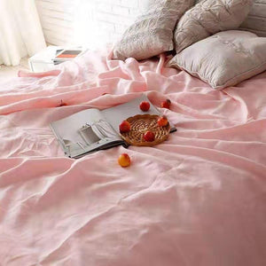 Pure French Linen Doona Cover Set - Pink