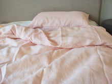 Load image into Gallery viewer, Pure French Linen Doona Cover Set - Pink