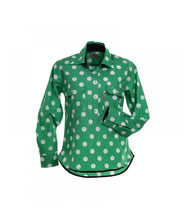 Load image into Gallery viewer, BullRush Sadie Spot Shirt - Green