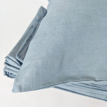Load image into Gallery viewer, Pure French Linen Doona Cover Set - Smokey Blue