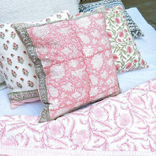 Load image into Gallery viewer, Block Print Feather Filled Cushions - Pinks