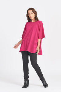100% Superfine Oversized Over Jumper - Hot Pink