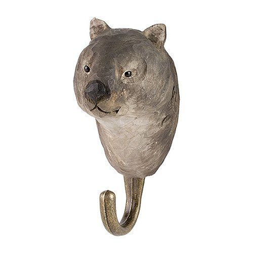 Hand Carved Wall Hook - Wombat