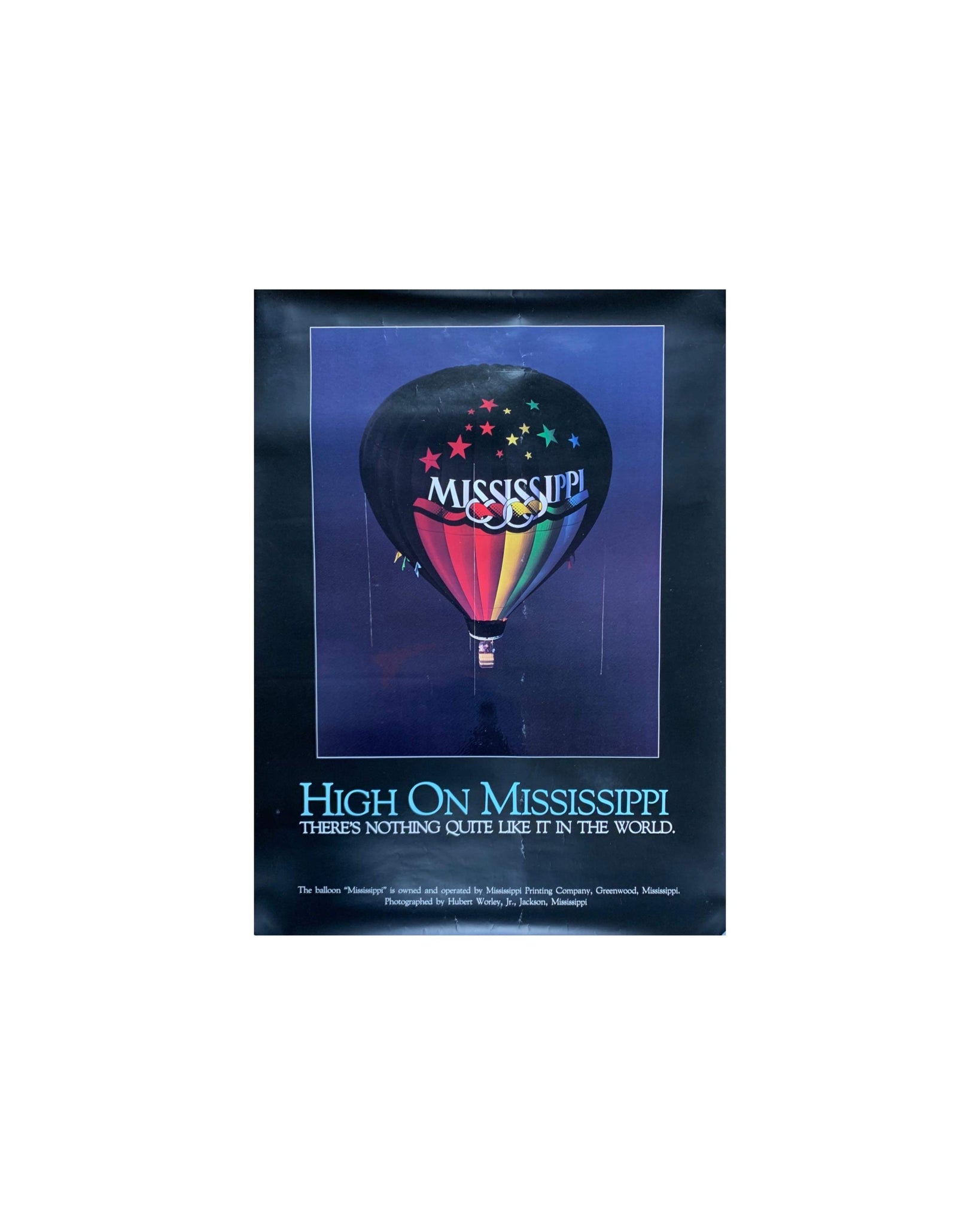 High on Mississippi 1988 Exhibition Poster - 46x61