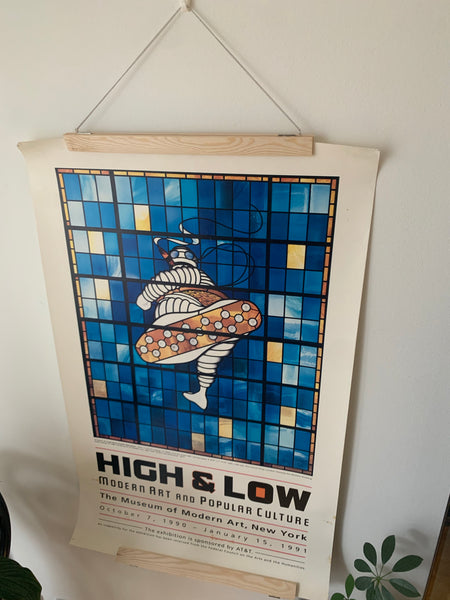 High & Low Museum of Modern Art 1991 Exhibition Poster - 59,8x94