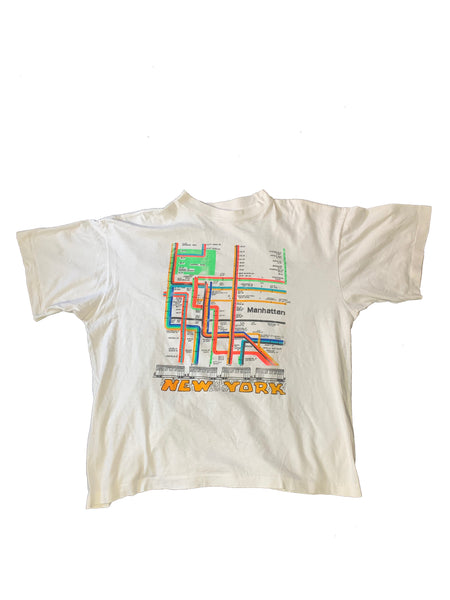 Vintage Manhattan, New York Tee 90s - L