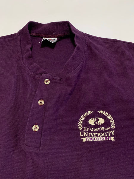 Vintage HP Openview University 1994 Henley Tee - XL