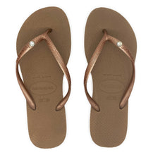 Load image into Gallery viewer, Havaianas Slim Crystal Rose Gold - Flops Arena