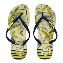 Load image into Gallery viewer, Havaianas Slim Tropical Beige Navy Blue - Flops Arena