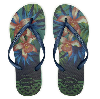 Havaianas Slim Tropical Mint Green - Flops Arena