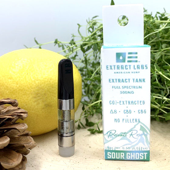 Extract Labs - CBD Vape Cart 500mg - Sour Ghost Delta 8