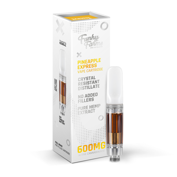 Funky Farms CBD Vape Cart 600mg - Pineapple Express CRD