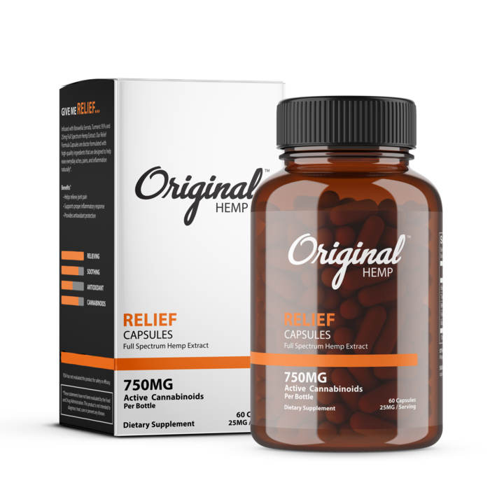 Original Hemp Capsules - Relief