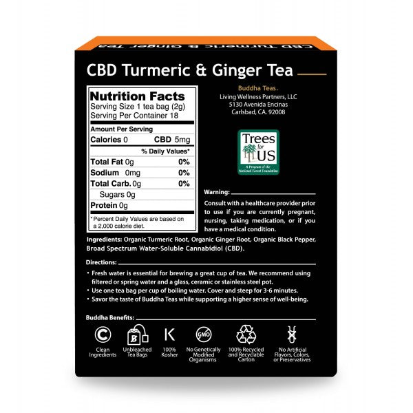 CBD Turmeric and Ginger Tea
