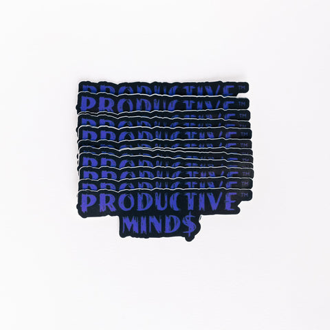 Productive Mind$ Stickers