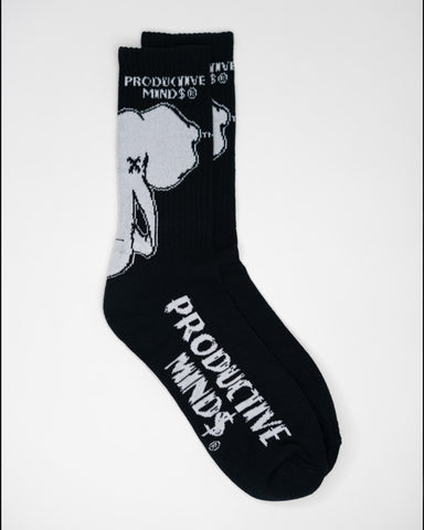 Black/White Logo Socks