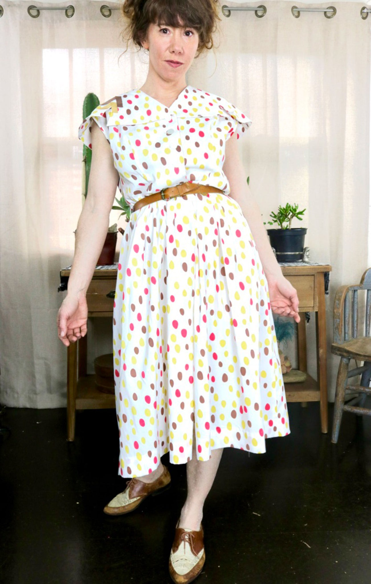 ~dressy casual by Syd Chicago~ Dots Dress         M