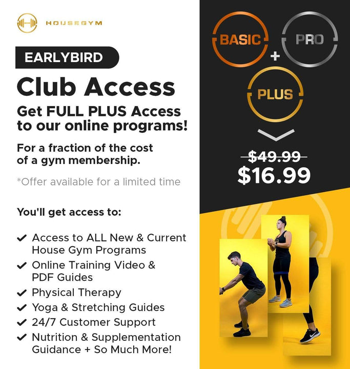 House Gym HouseGym Club Membership (Monthly) home workout set resistance band fitness