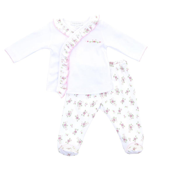 Hope's Rose Spring Printed X-Tee Footed Pant Set MAGNOLIA BABY