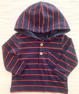 Strip Hooded Top      BELLYBUTTON