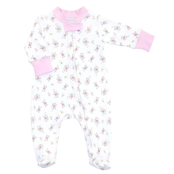 Hope's Rose Spring Printed Zipped Footie MAGNOLIA BABY