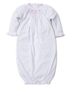 Smocked Embroidered Gown             KISSY KISSY