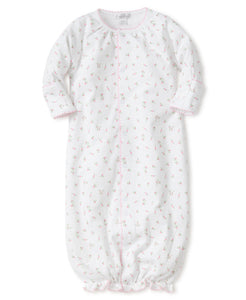 Rose Print Convertible Gown to Coverall KISSY KISSY