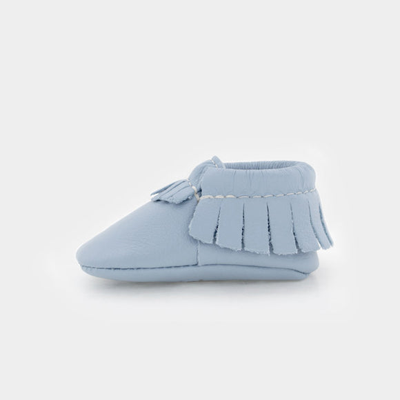 Powder Blue Moccasins FRESHLY PICKED