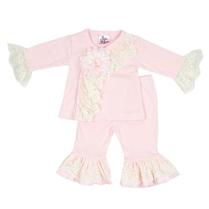 Pearl and Lace 2 Piece Set                  HAUTE BABY