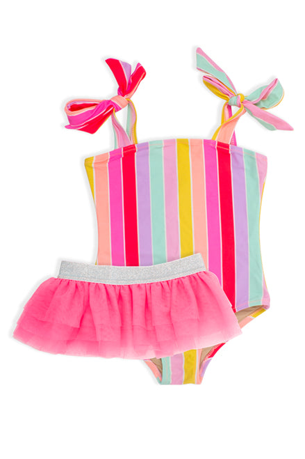 Stripe Swimsuit with Tutu   SHADE CRITTERS