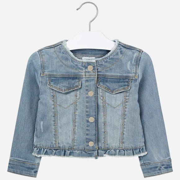 Ruffle Denim Jacket   MAYORAL