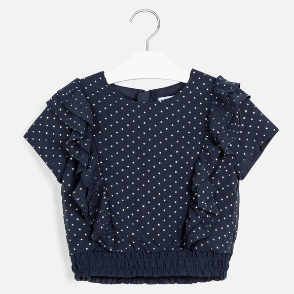 Navy Dot Blouse MAYORAL