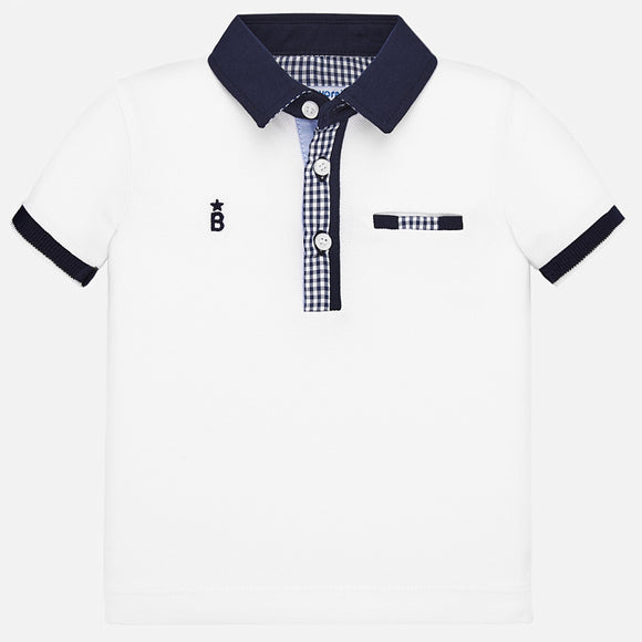 Gingham Detail Collared Shirt   MAYORAL